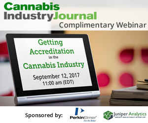 Getting Accreditation in the Cannabis Industry COMPLIMENTARY WEBINAR - September 12, 2017 - 11 AM (EDT)