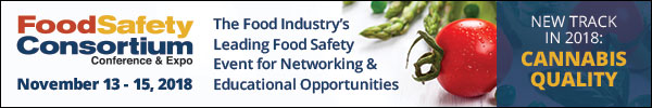 2018 Food Safety Consortium Conference & Expo - November 13-15, 2018 - Chicago, IL