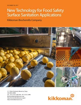 New Technology for Rapid Validation of Sanitary Surfaces
