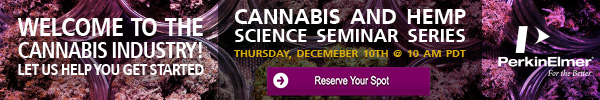 Cannabis & Hemp Science Seminar Series - December 10, 2020 - 10am PDT