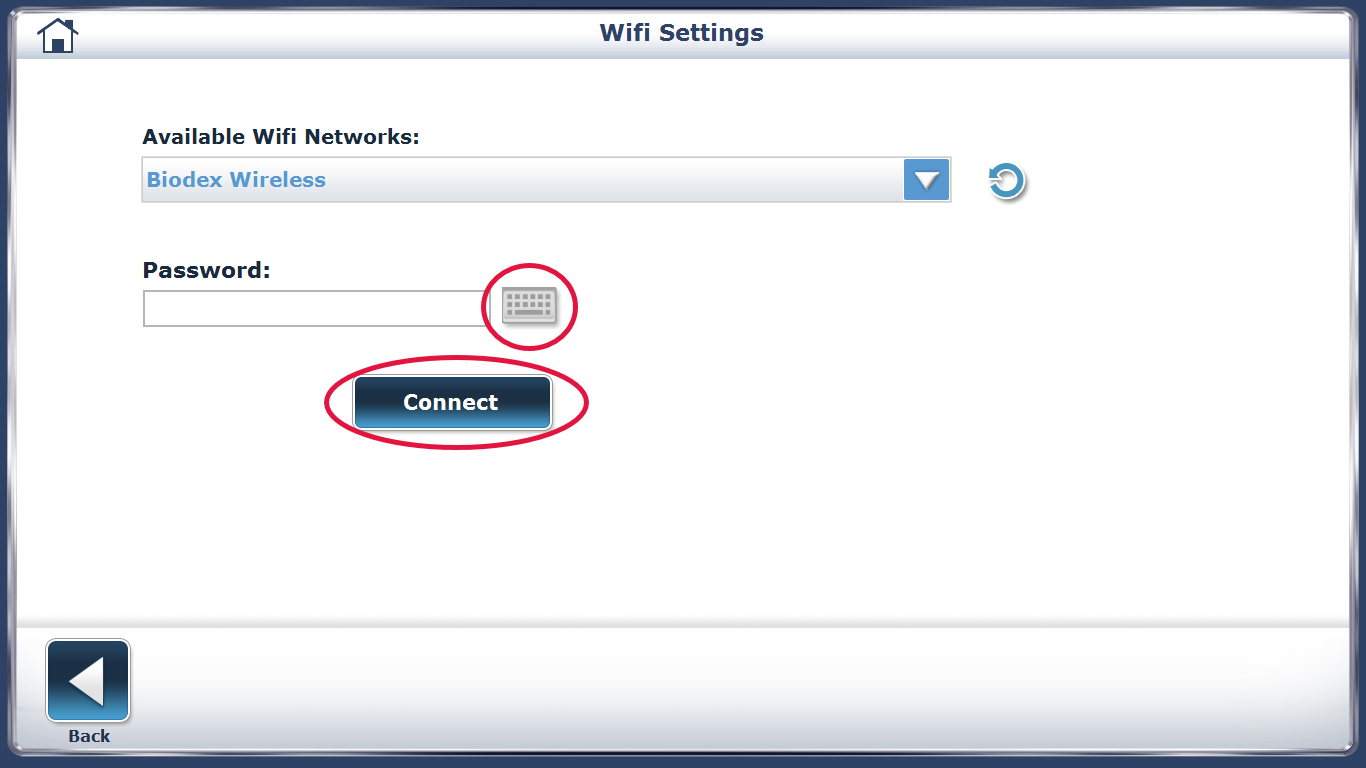Connecting to WiFi Step 4 Screen