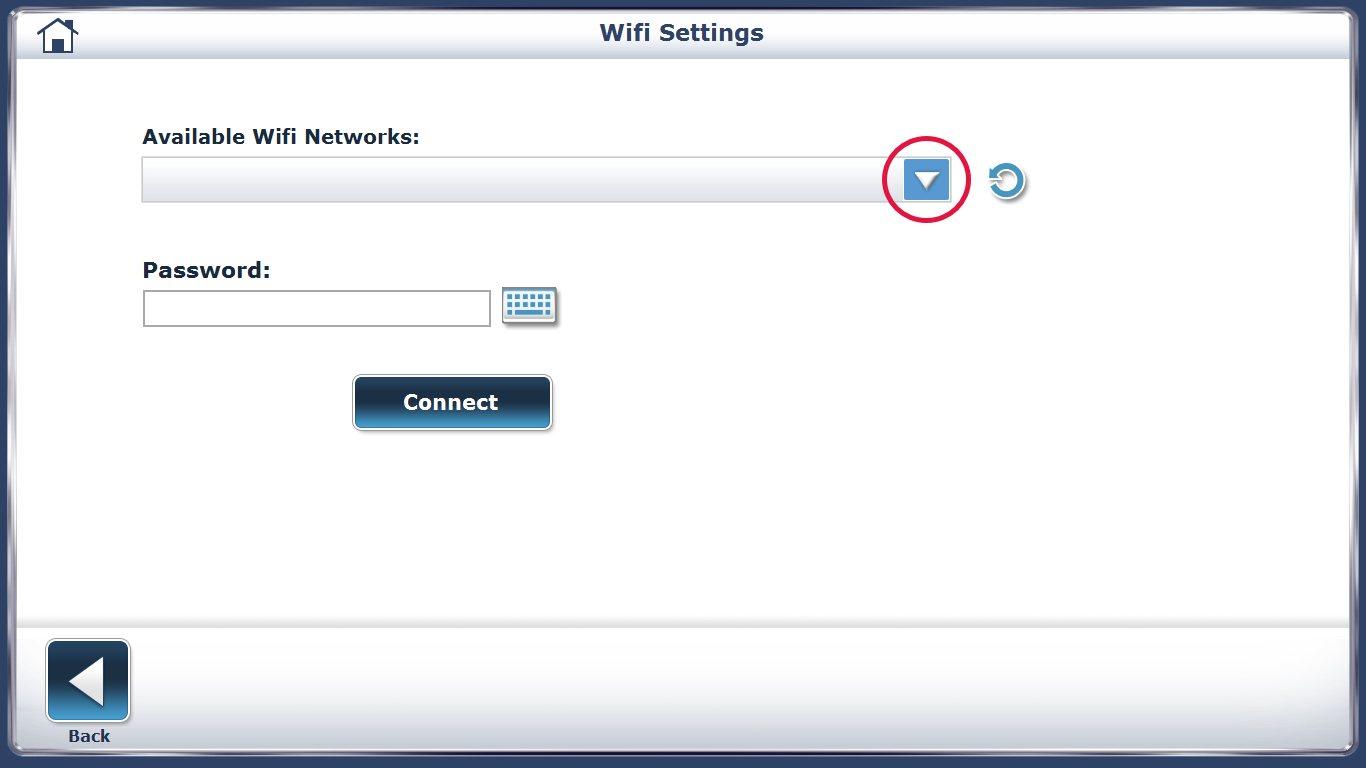 Connecting to WiFi Step 3 Screen