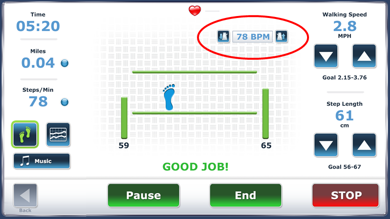 Choose music on Spotify that matches patient abilities Screen