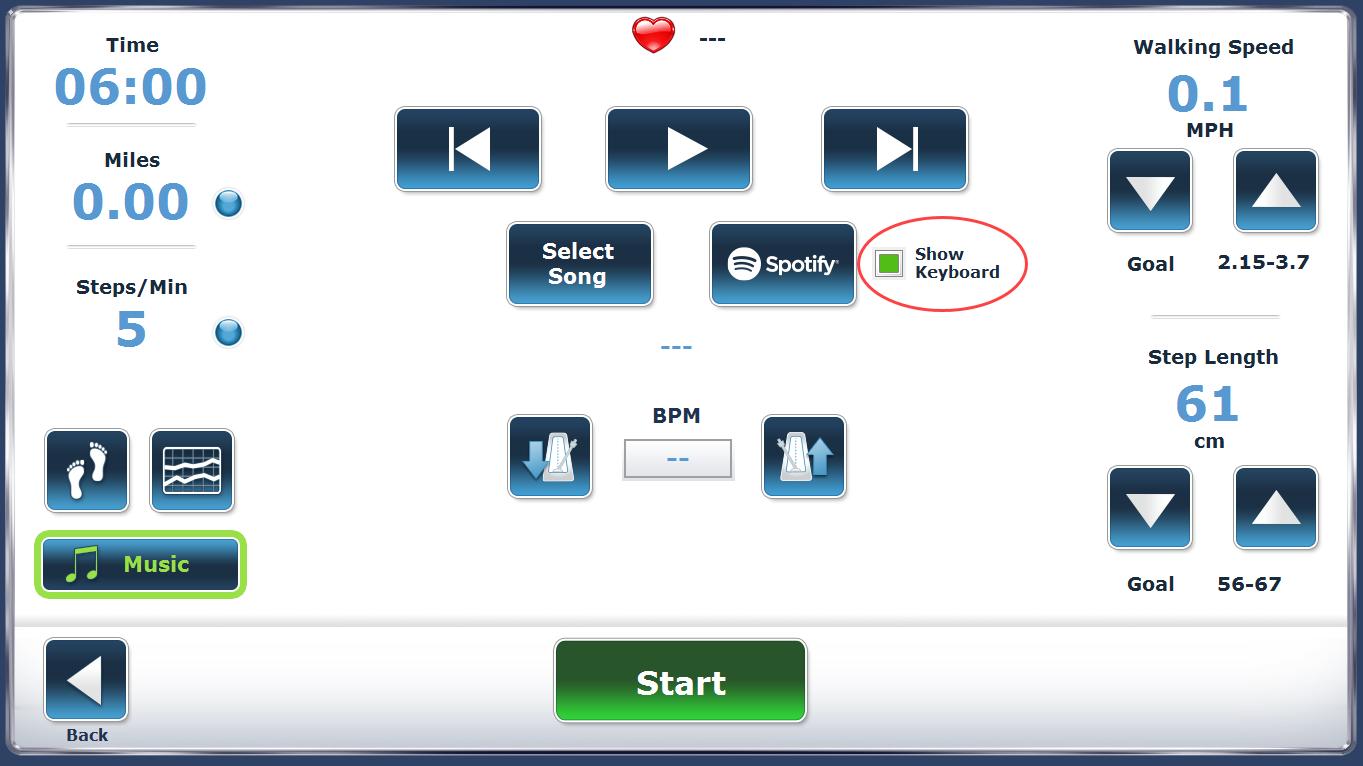 Using Spotify screen 1