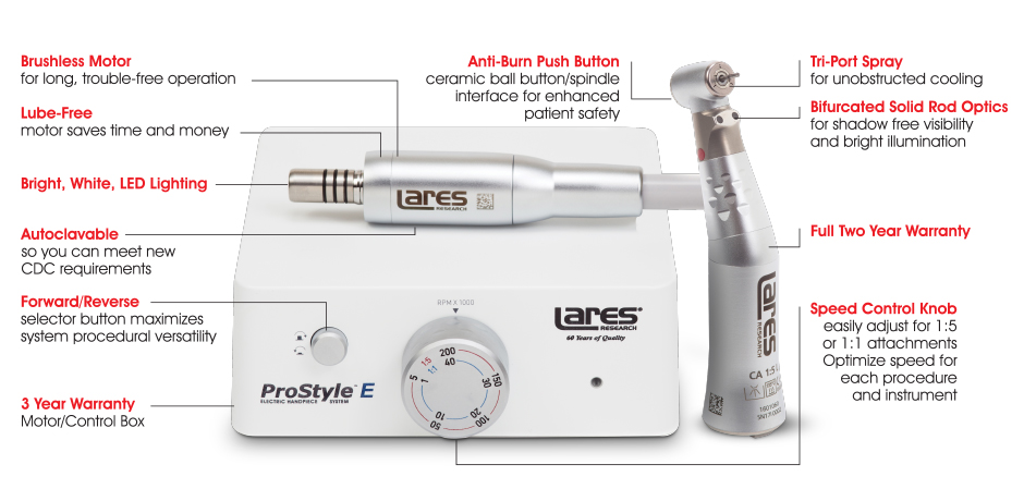 Lares ProStyle E Electric Handpiece System