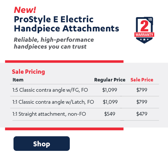 ProStyle E Electric Hanpiece Attachments