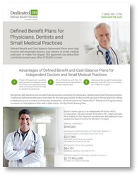 Defined Benefit Plans for Physicians, Dentists and Small Medical Practices