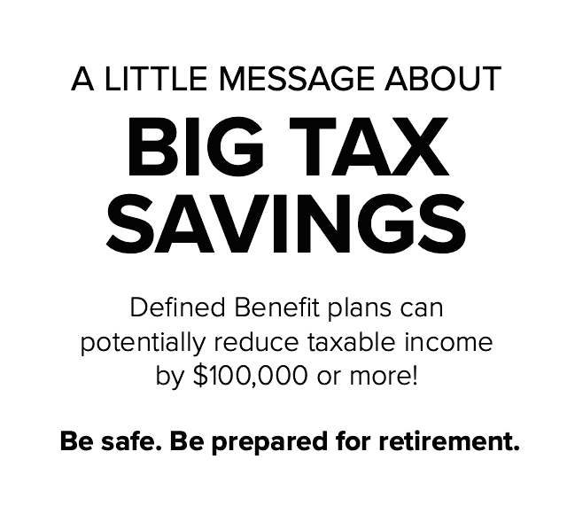 BIG TAX SAVINGS